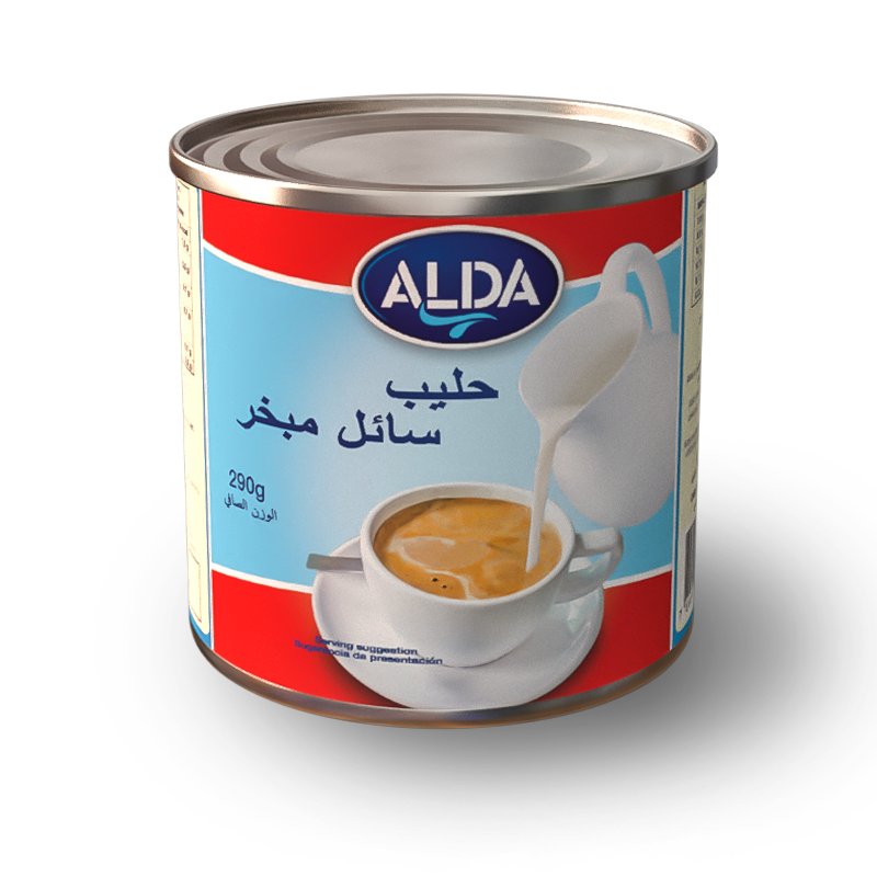 ALDA Evaporated Milk in Tins